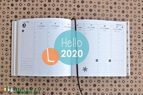 L-es HETI beosztású határidőnapló belső 2020 (noteshell) - Meska.hu