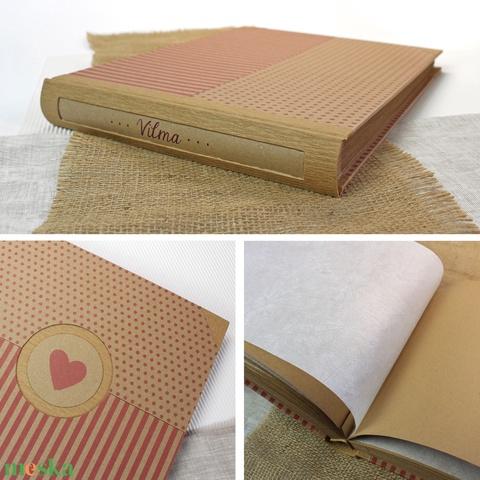 Eco L pink csíkos-pöttyös fotóalbum - Meska.hu