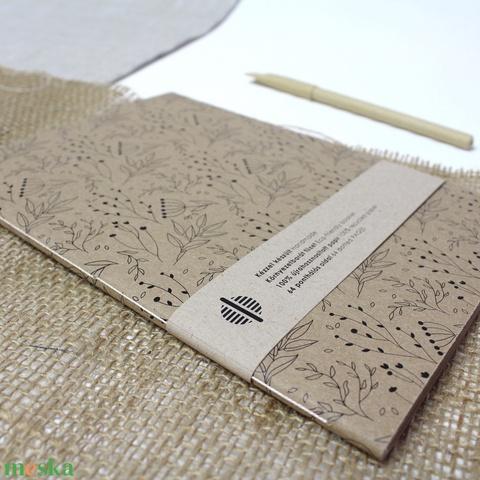 ECO nagy ponthálós füzet - virágmintás - újrahasznosított papírból - Meska.hu