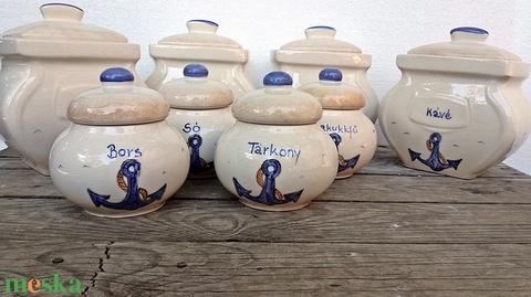 Tenger,hajó,vasmacska, liszt,cukor,só kerámia fűszertartó készlet   Rendelhető!!!! (ntakeramia) - Meska.hu