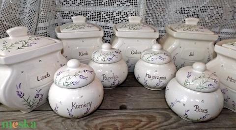 Levendulás liszt,cukor,só kerámia fűszertartó készlet   Rendelhető!!!! (ntakeramia) - Meska.hu