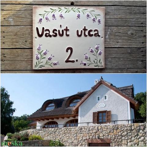 Egyedi  levendulás kerámia utcanévtábla  (ntakeramia) - Meska.hu