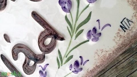 Egyedi  levendula- Provence kerámia utcanévtábla  (ntakeramia) - Meska.hu