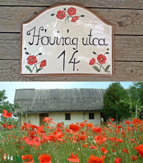 Legyen nyár-pipacsimádóknak kerámia utcanévtábla (ntakeramia) - Meska.hu