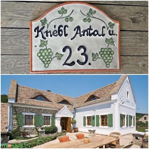 Egyedi  szőlő- Provence kerámia utcanévtábla  (ntakeramia) - Meska.hu