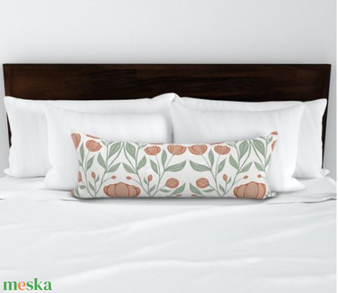 Hálószobai díszpárna - extra hosszú francia ágyra tehető díszpárna 90cm x 30cm designer textilekkel (OdorsHome) - Meska.hu