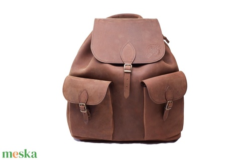 Bivalybőr hátizsák (0405-ös) - OLD SAILOR (Oldsailor) - Meska.hu