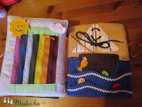 Interaktív , foglalkoztató,készségfejlesztő textilkönyv kisfiúknak.  (orchidea30) - Meska.hu
