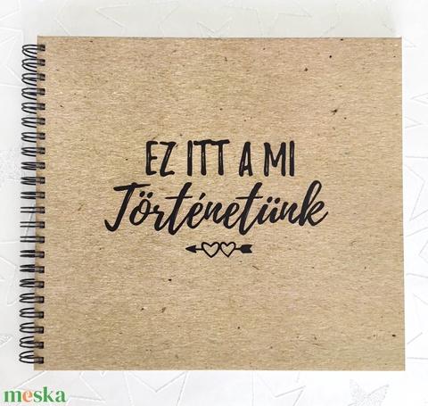Szerelmes vagy Családi Fotóalbum Fénykép album / Esküvőre is kitűnő nászajándék - 40 lap / 80 oldal - 21x19cm (OromKonnyek) - Meska.hu