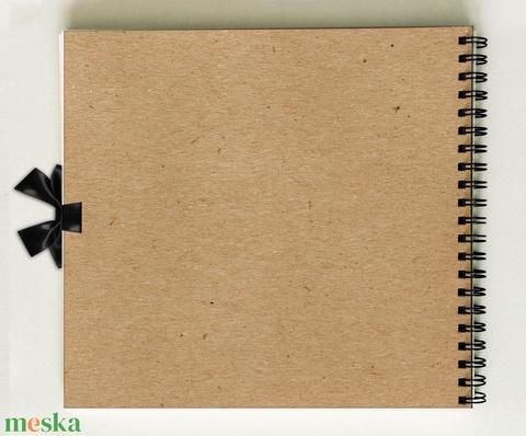 Lánybúcsú ajándék emlékkönyv - natúr színű  Prémium egyedi album - emlék a menyasszonynak - füzet / napló - 21x19cm - Meska.hu