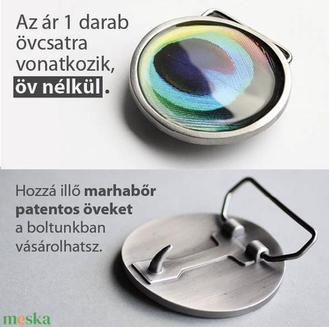 Pávatoll övcsat (kék, kerek) (ovcsatbolt) - Meska.hu