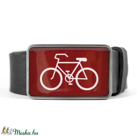Bicikli övcsat (bordó, szögletes) (ovcsatbolt) - Meska.hu