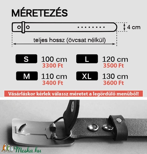 Marhabőr patentos öv, fekete (ovcsatbolt) - Meska.hu