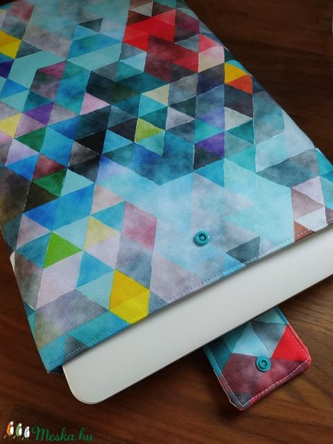 Türkiz vízlepergetős textilből készült laptoptok (pajudo) - Meska.hu