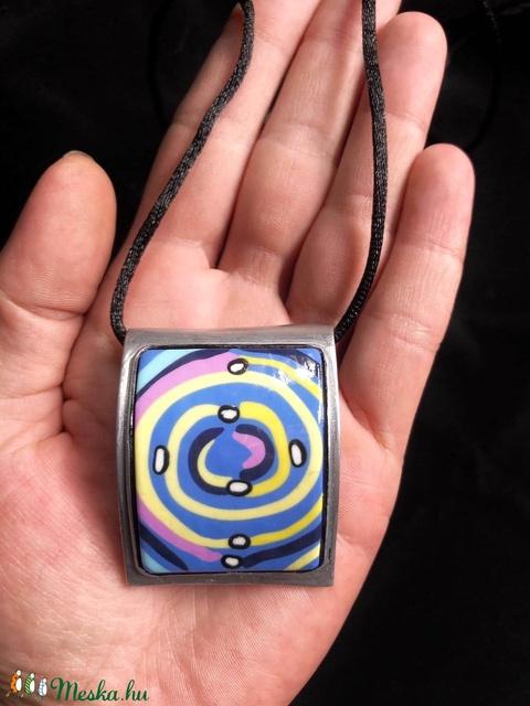 Hundertwasser spirál nyaklánc - Meska.hu