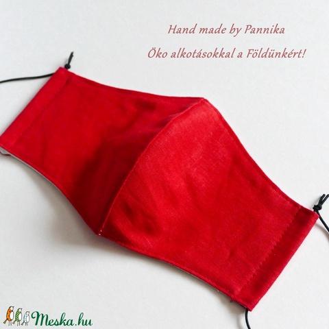 AkciÓ! 1700 helyett.. Szájmaszk,Piros, fülre akasztható Pamut! (pannika) - Meska.hu