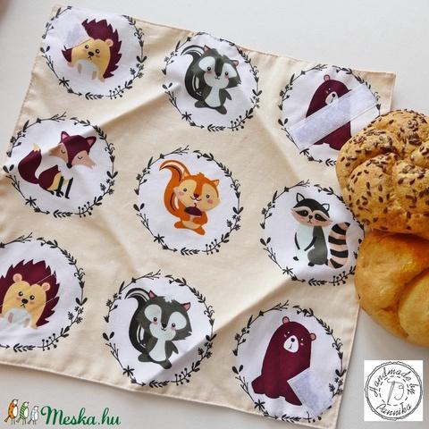 Öko szendvics-csomagolás (sünikés vízálló textilszalvéta) (pannika) - Meska.hu