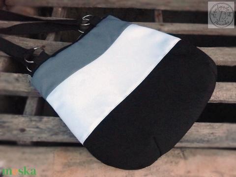 Fekete, fehér, szürke válltáska, kézitáska - Meska.hu