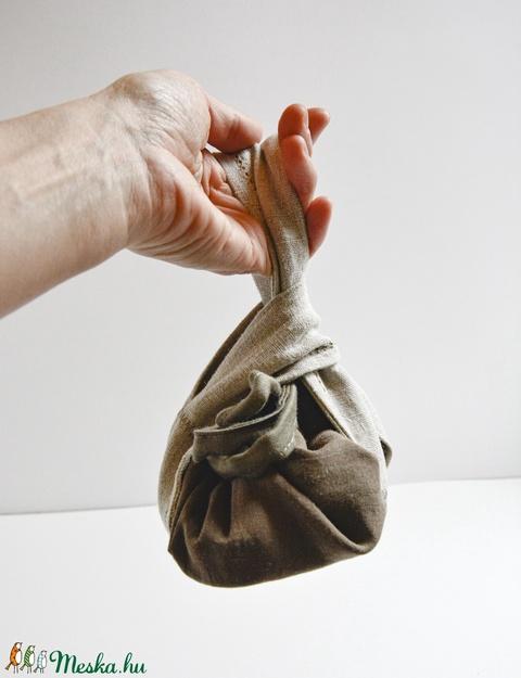 Smink neszesszer, sminkbatyu, újrahasznosított pamut- és lenvászonból (Papics) - Meska.hu
