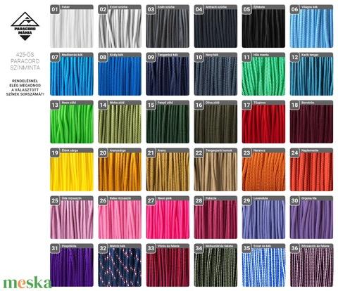 Horgonyos páros vitorlás karkötő maxi hosszban (2 db, választható színekben) (paracordmania) - Meska.hu