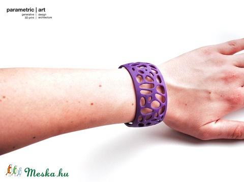 Voronoi simple cuff 3d nyomtatott karkötő (lila) (parametricart) - Meska.hu