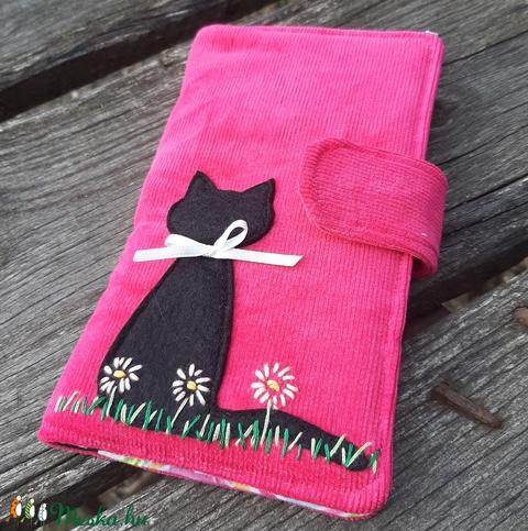 Macska pink színű kord irattartó és pénztárca  (patonaifabian) - Meska.hu
