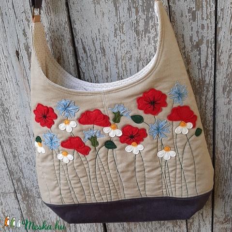 Mező beige színű  kord pakolós táska (patonaifabian) - Meska.hu