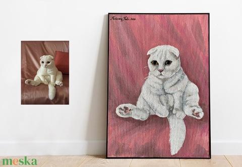 Kisállat portré - akril festmény fényképről (PetArt) - Meska.hu
