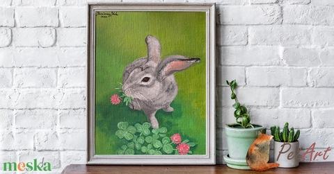 Nyuszi portré - egyedi akril festmény (PetArt) - Meska.hu