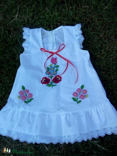 Kézi kalocsai hímzett lányka ruha (peteryeva) - Meska.hu 4567a800f6