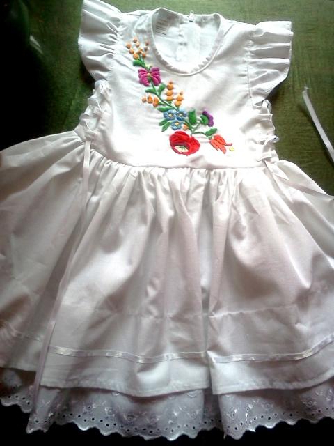 Kalocsai kézzel hímzett lányka ruha (peteryeva) - Meska.hu c37375f4a6