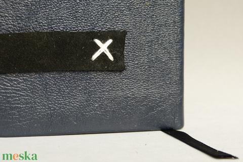 Norvald  - fekete bőr notesz napló emlékkönyv jegyzetfüzet 9x13 cm - 241 - Meska.hu