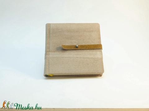 Kende - notesz, napló, emlékkönyv - drapp velúr bőr 16x16 cm - 302 - Meska.hu