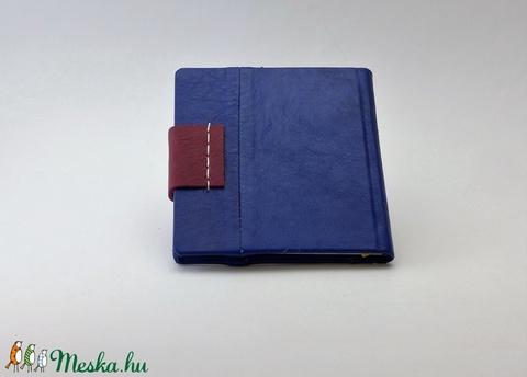 Raul - notesz, napló, emlékkönyv - kék bőr 16x16 cm  - 337 - Meska.hu