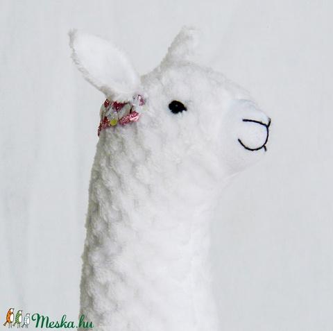 Simuló Elíz - egyedi tervezésű láma - kézműves textil  játék - gyerekjáték (Pindiart) - Meska.hu
