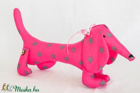 Tacskó - egyedi tervezésű kézműves játék - textiljáték - kutya (Pindiart) - Meska.hu