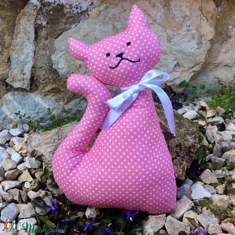 Cica - egyedi tervezésű kézműves játék - textiljáték - macska (Pindiart) - Meska.hu