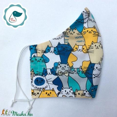 Egyedi szájmaszk - kiskamasz szájmaszk - textil szájmaszk - egészségügyi szájmaszk - mosható szájmaszk (Pindiart) - Meska.hu
