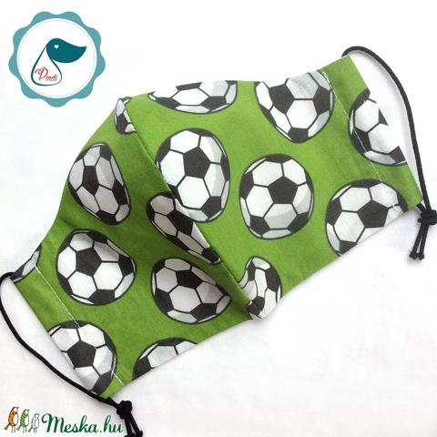 Egyedi szájmaszk - felnőtt futball labdás női és teenager szájmaszk - textil szájmaszk - egészségügyi szájmaszk - Meska.hu