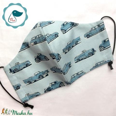 Maszk - egyedi szájmaszk - férfi autós szájmaszk - textil szájmaszk - egészségügyi szájmaszk (Pindiart) - Meska.hu