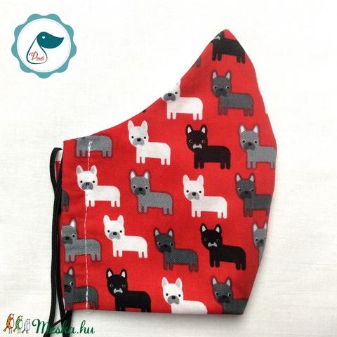 Egyedi szájmaszk -kutyás kiskamasz szájmaszk - textil szájmaszk - egészségügyi szájmaszk - mosható szájmaszk (Pindiart) - Meska.hu