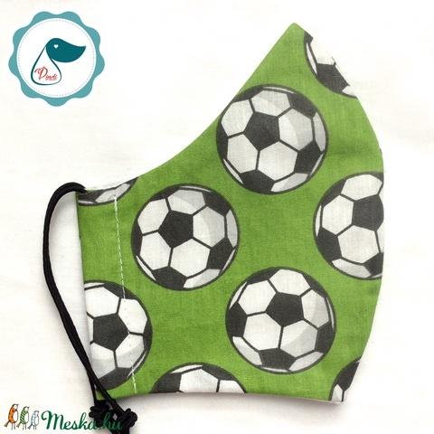 Maszk - egyedi szájmaszk - férfi futball labdás szájmaszk - textil szájmaszk - egészségügyi szájmaszk (Pindiart) - Meska.hu