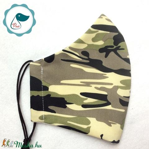 Egyedi szájmaszk - férfi terep mintás szájmaszk - textil szájmaszk - egészségügyi szájmaszk (Pindiart) - Meska.hu