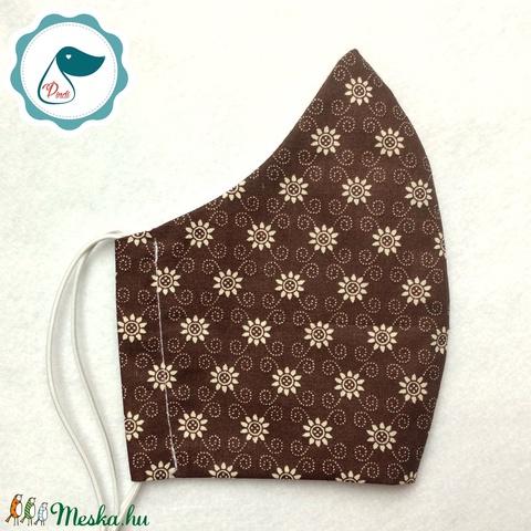 Maszk - egyedi virágos szájmaszk - felnőtt női és teenager szájmaszk - textil szájmaszk - egészségügyi szájmaszk (Pindiart) - Meska.hu