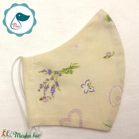 AKCIÓ - Egyedi szájmaszk - levendulás felnőtt női és teenager szájmaszk - textil szájmaszk - egészségügyi szájmaszk (Pindiart) - Meska.hu