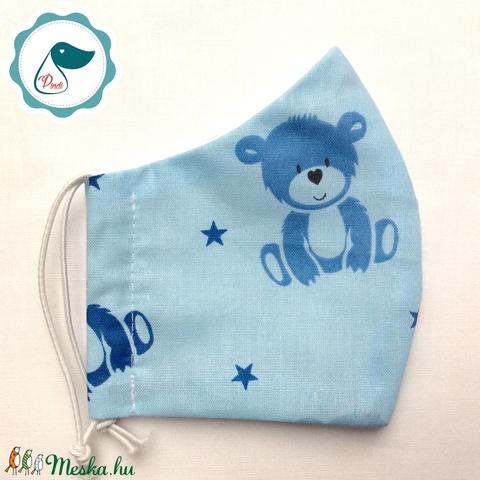Egyedi  macis  maszk - gyerek arcmaszk - textil szájmaszk - egészségügyi szájmaszk - mosható szájmaszk (Pindiart) - Meska.hu