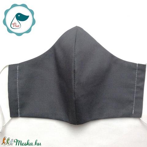 Egyedi  férfi  maszk - szürke arcmaszk - textil szájmaszk - egészségügyi szájmaszk (Pindiart) - Meska.hu