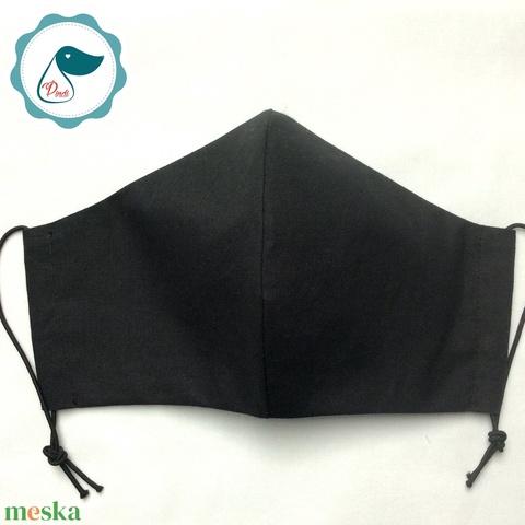 Egyedi szájmaszk - fekete felnőtt női és teenager szájmaszk - textil szájmaszk - egészségügyi szájmaszk (Pindiart) - Meska.hu