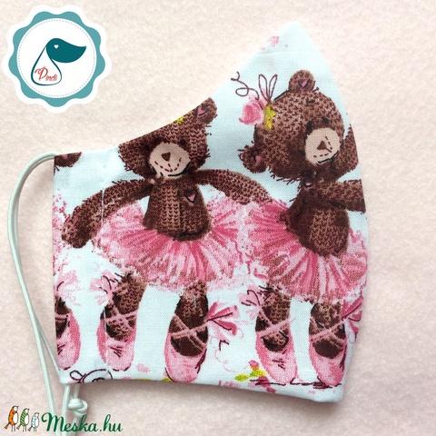 Egyedi szájmaszk - macis gyerek szájmaszk - textil szájmaszk - egészségügyi szájmaszk (Pindiart) - Meska.hu