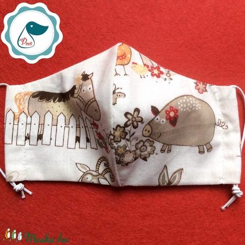 AKCIÓ - Egyedi szájmaszk - gyerek szájmaszk - textil szájmaszk - egészségügyi szájmaszk - mosható szájmaszk (Pindiart) - Meska.hu